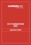 CS Foundation Question Papers 2012