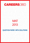 MAT 2013 Question Paper