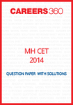 MH-CET 2014 Question Paper with solutions