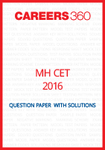 MH-CET 2016 Question Paper with solutions