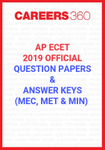 AP ECET 2019 Official Question Papers and Answer Keys (MEC, MET & MIN)