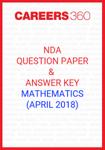 NDA Question Paper & Answer Key (April 2018) Mathematics