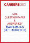 NDA Question Paper & Answer Key (September 2018) Mathematics
