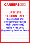 UPSC ESE Question Paper 2019 (Main+Preliminary) Electronics and Telecommunications Engineering