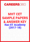 MHT CET Sample Papers and Answer Key by Rao IIT Academy (2017-18)