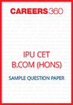 IPU CET B.Com. (Hons.) Sample Question Paper