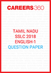 Tamil Nadu SSLC 2018 English Question Paper-I