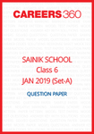 Sainik School 2019 Question paper for Class 6 Set-A (January 6)