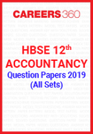 HBSE 12th Accountancy Question Paper 2019 (All Sets)