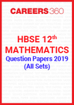 HBSE 12th Mathematics Question Paper 2019 (All Sets)