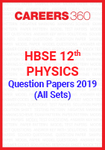 HBSE 12th Physics Question Papers 2019 (All Sets)