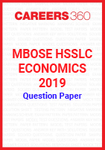 MBOSE HSSLC Economics 2019 Question Papers