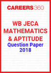 WB JECA Mathematics and Aptitude Question Paper 2018