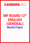 MP Board 12th English (General) Model Paper