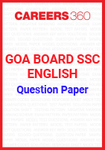 Goa Board SSC Question Paper English