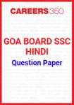 Goa Board SSC Question Paper Hindi
