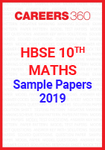 HBSE 10th Maths 2019 Sample Papers