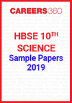 HBSE 10th Science 2019 Sample Papers