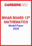 Bihar Board 12th Mathematics Model Paper 2020