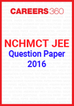 NCHMCT JEE Question Paper 2016