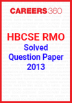HBCSE RMO Solved Question Paper 2013