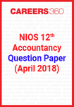 NIOS 12th Accountancy Question Paper (April 2018)