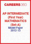 AP Intermediate (First year) Mathematics (Set-A) Model Paper 2012-13