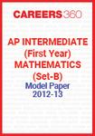 AP Intermediate (First year) Mathematics (Set-B) Model Paper 2012-13