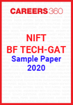 NIFT BF TECH GAT Sample Paper 2020
