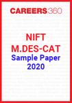 NIFT Sample Paper 2020 - M.Des programme CAT