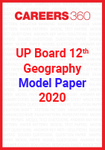 UP board 12th Geography Model Paper 2020