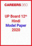 UP board 12th Hindi Model Paper 2020