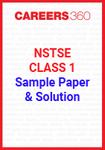 NSTSE Class 1 Sample Paper and Solution