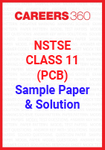 NSTSE Class 11 (PCB) Sample Paper and Solution