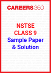 NSTSE Class 9 Sample Paper and Solution