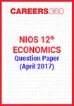 NIOS 12th Economics Question Paper April 2017