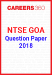 NTSE Goa Question Paper 2018