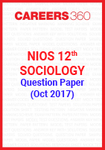 NIOS 12th Sociology Question Paper (Oct 2017)