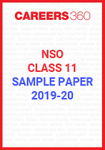NSO Class 11 Sample Paper 2019-20