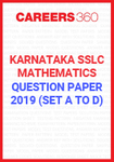 Karnataka SSLC Mathematics Question Paper 2019