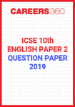 ICSE 10th English-2 Question Paper 2019