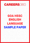 Goa Board HSSC English Language Sample Papers
