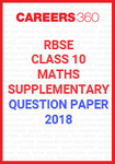 RBSE 10th Maths Supplementary Question Papers 2018