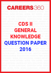 CDS II Question Paper - General Knowledge-GK (2016)