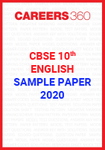 CBSE Class 10 English Sample Paper 2020
