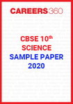 CBSE Class 10 Science Sample Paper 2020