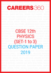 CBSE Class 12 Physics Question Paper 2019