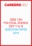 CBSE Class 12 Political Science Question Paper 2019
