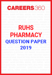 RUHS Pharmacy Question Paper 2019