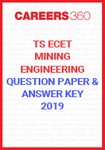 TS ECET Question Paper and Answer Key Mining Engineering 2019